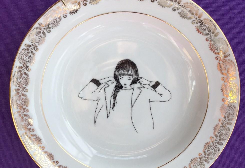 @PoMMettes nouvelle vaisselle vintage, par Alice et Delphine