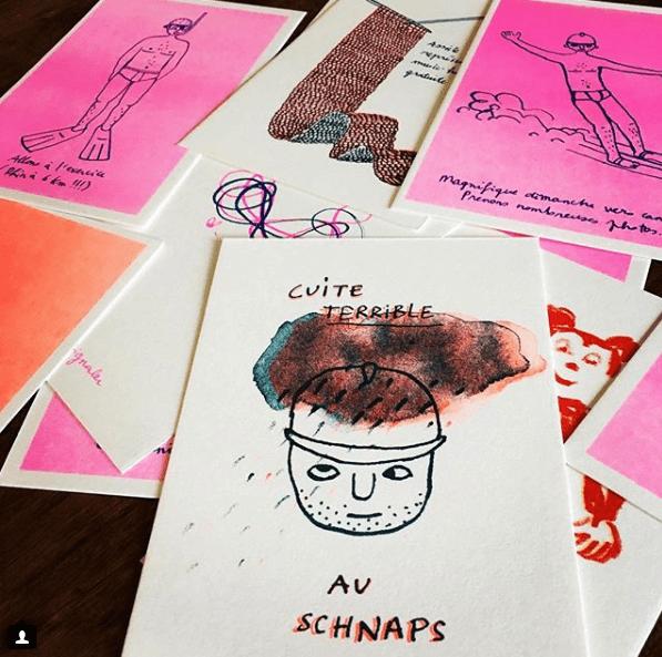 [LIVRE GRAPHIQUE] Accompagnement social media de la graphiste et illustratrice Anne Desrivières