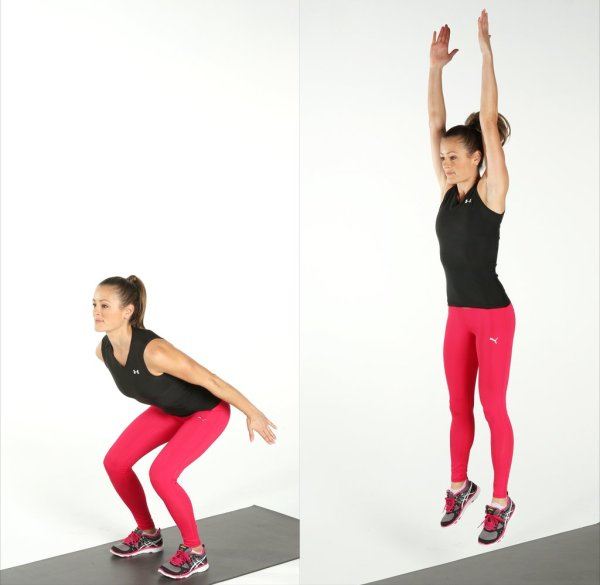 body weight exercises jump squats