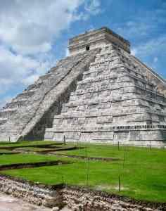 Mayan pyramid in Cozumel Mexico