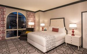 Paris Las Vegas Room with white bed