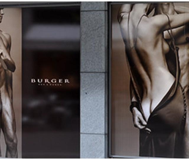 Burger Store Window Bikkembergs