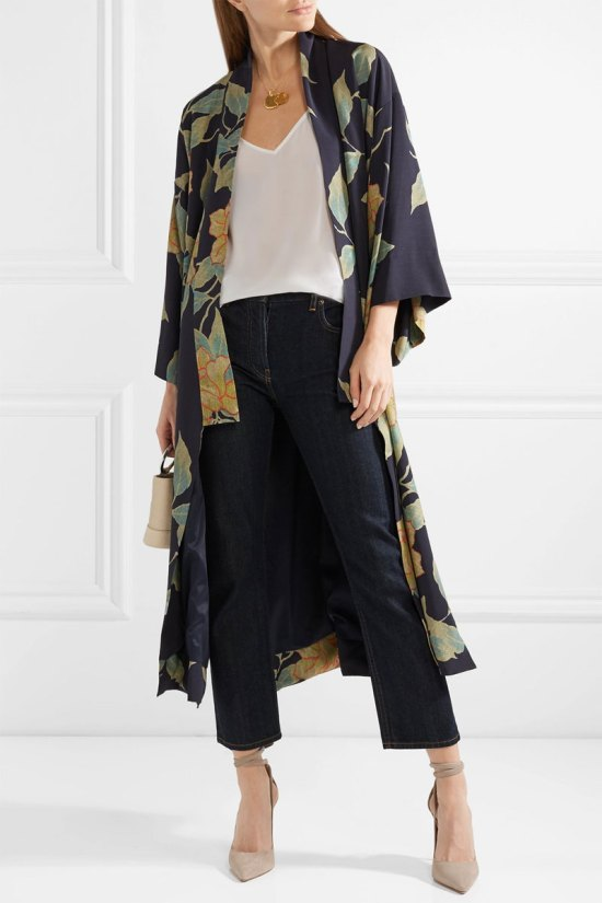 ELIZABETH AND JAMES Zoe Floral-print Twill Jacket