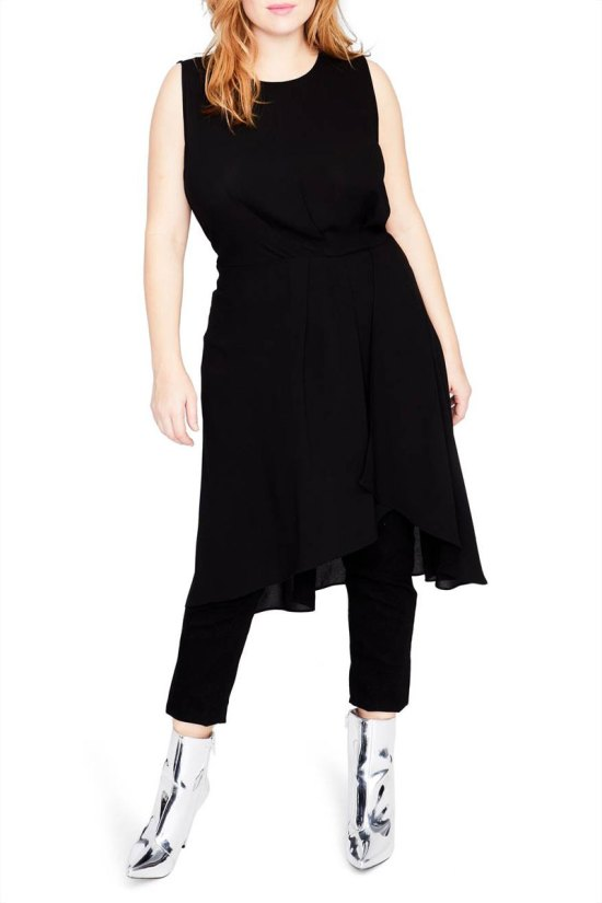 Rachel Rachel Roy Sleeveless Cascade Tunic Dress