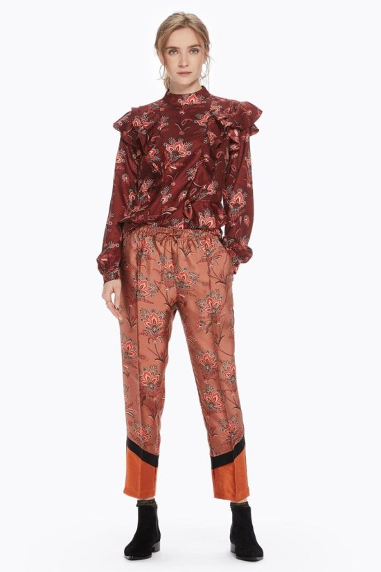 Scotch Soda Floral Color Block Trousers