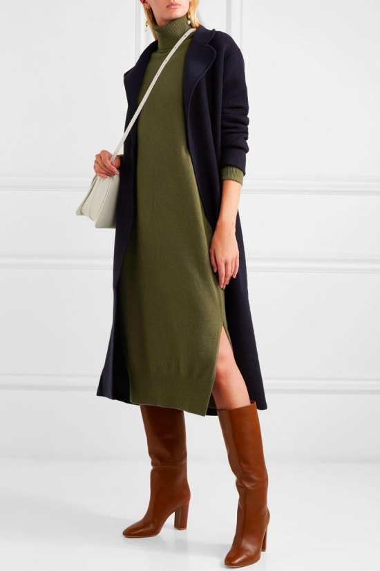 JOSEPH Sally Wool-blend Turtleneck Midi Dress
