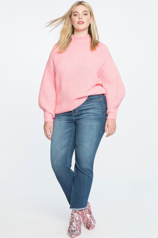 Eloquii Puff Sleeve Sweater