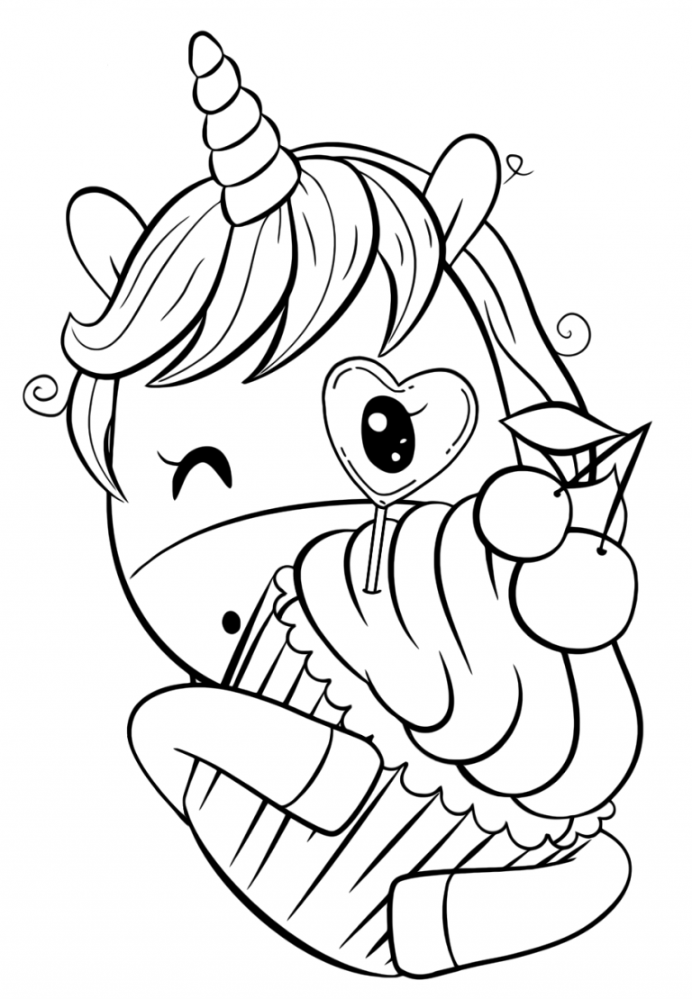 Cute Baby Unicorn Coloring Pages For Kids Novocom Top