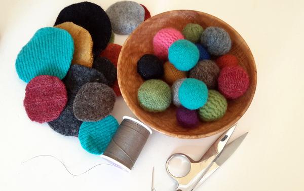 sewing sweater balls