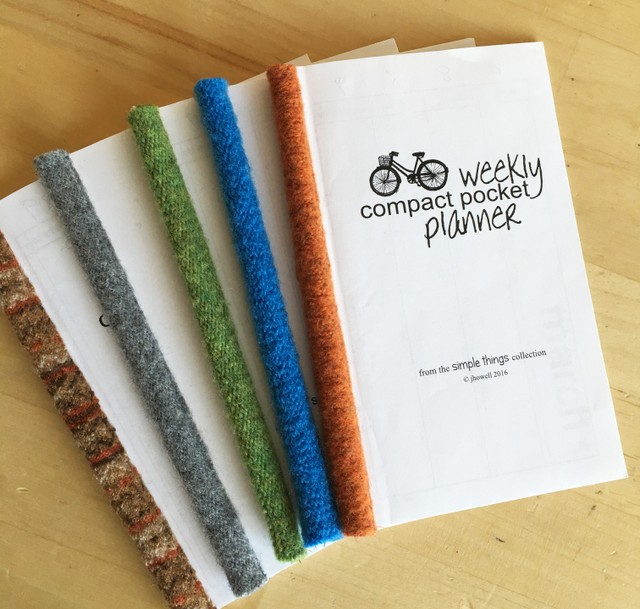 upcycled wool sweater planner binding