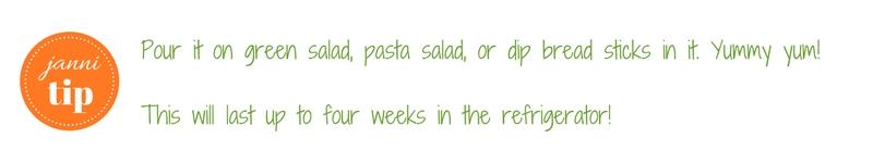 Olive Garden dressing tips