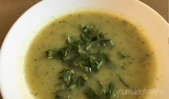 Zucchini & Basil Soup Youmakeitsimple.com