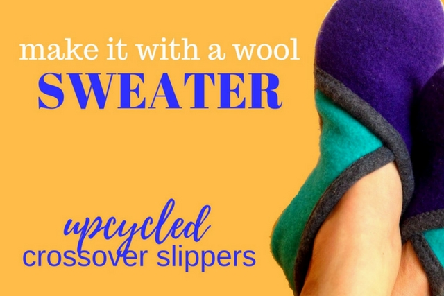 upcycled sweater slippers class youmakeitsimple.com