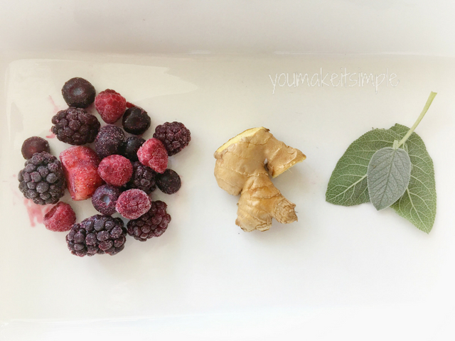 berries ginger and sage
