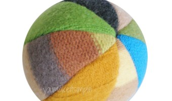 Upcycled Sweater Beach Ball - youmakeitsimple.com