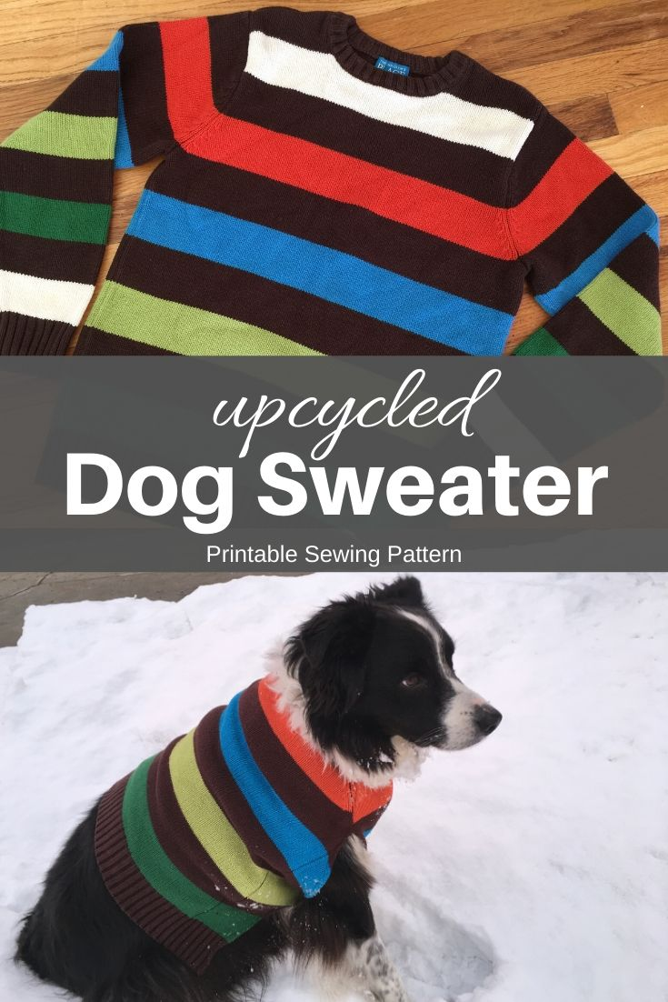 upcycled dog sweater