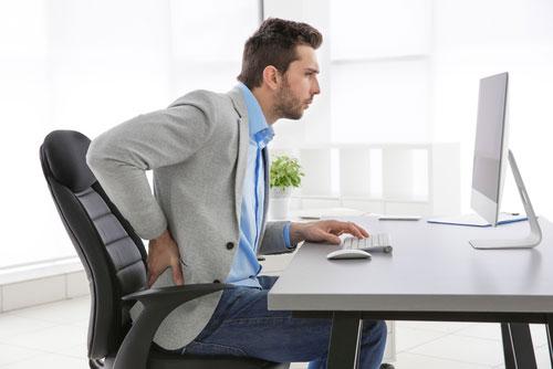 bonne posture assise pour le dos