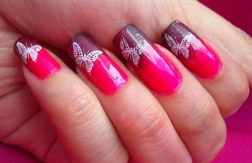 cute butterfly nail art