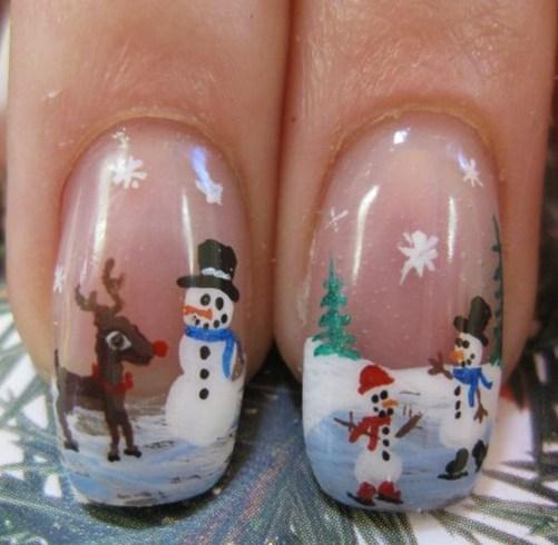 cristmas nail art santa