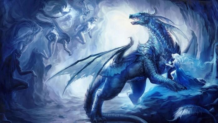 Blue-Dragon Wallpaper