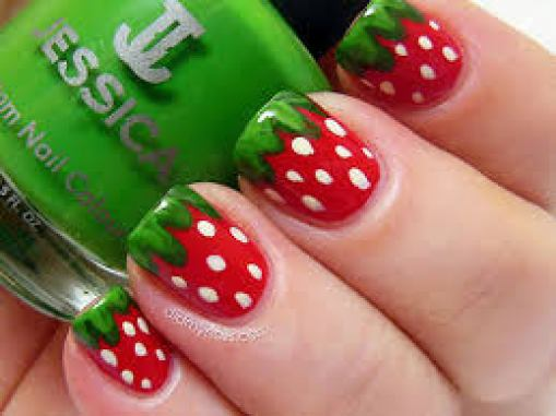fruity nail art design