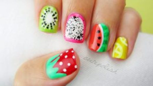 fruity nail art pattern