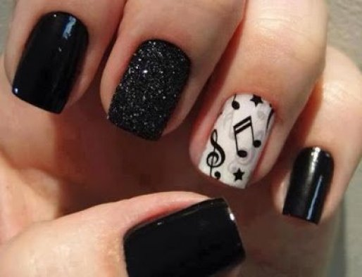 musical nail art design