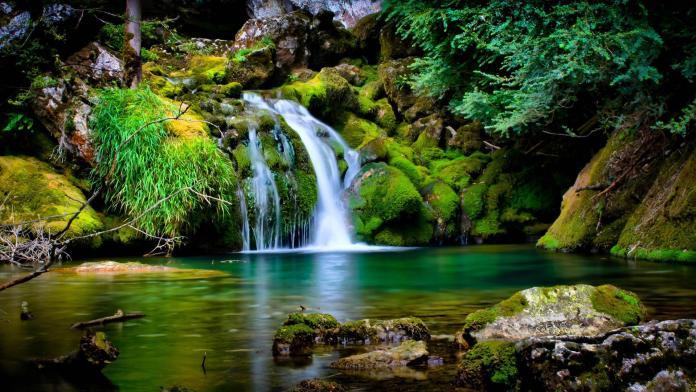 Waterfall Nature HD Wallpaper For Desktop Background