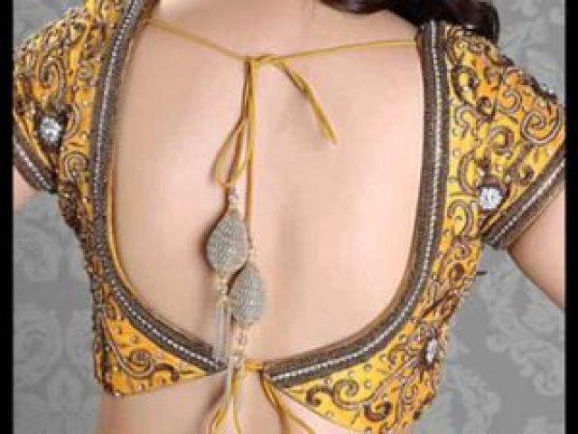 back cutwork blouse design
