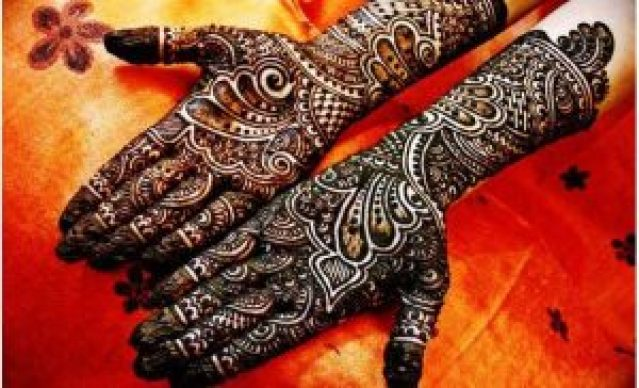 back hand karva chouth design