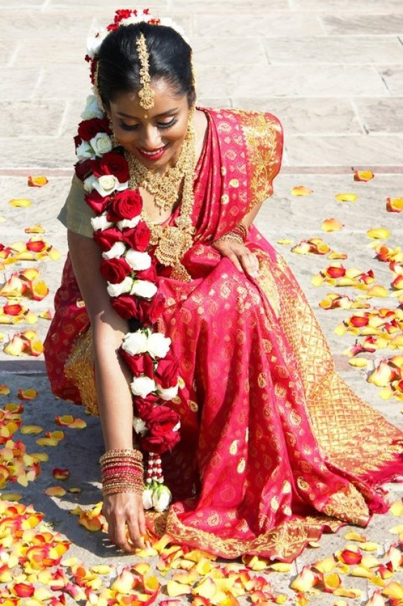 south indian bridal wedding hairstyle