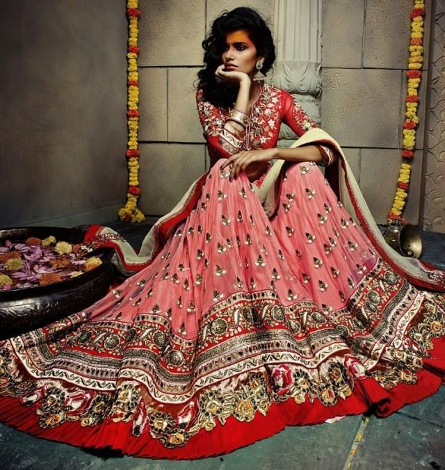 romentic bridal lehanga design