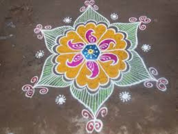 simple kolam designs with dots
