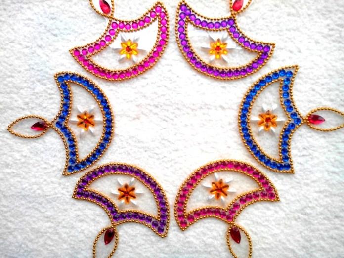 special deepawali rangoli design