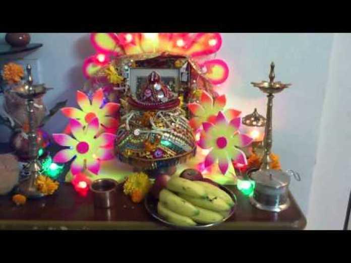 durga maa temple decoration at home