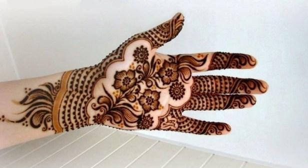 karva chauth flowers mehndi design