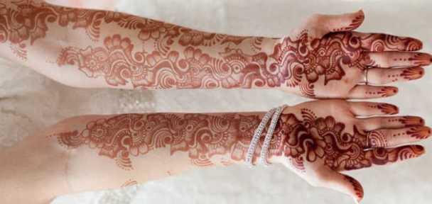 full hands karva chauth mehndi design