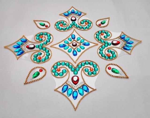 diwali special kundan rangoli design