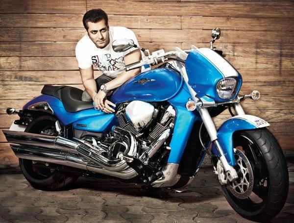 Salman Khan On Bike Wallpapers