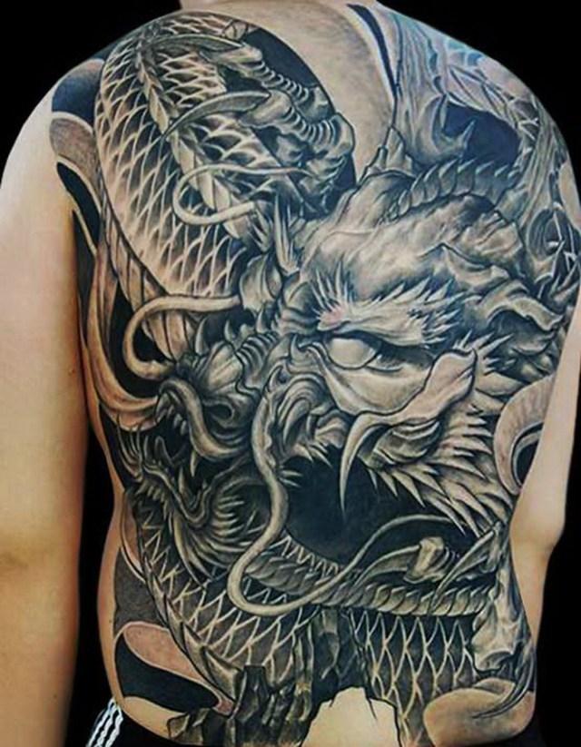 Full Tattoo On Back For Men