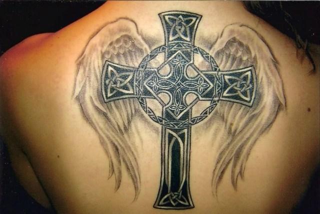 Cross Tattoo On Back For Men