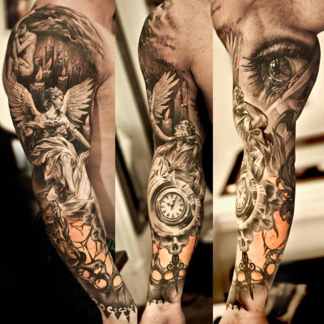 Japanese Lion Shoulder Tattoo Design For Men