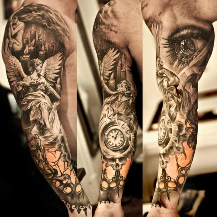 Japanese Lion Shoulder Tattoo Design For Men