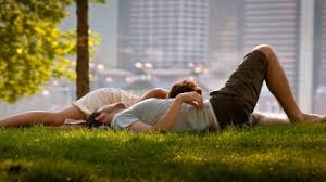couple love on the grass