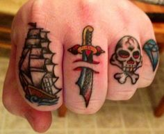 Finger Tattoo Design For Men