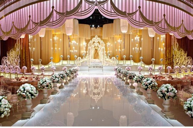rich look wedding center stage decoration