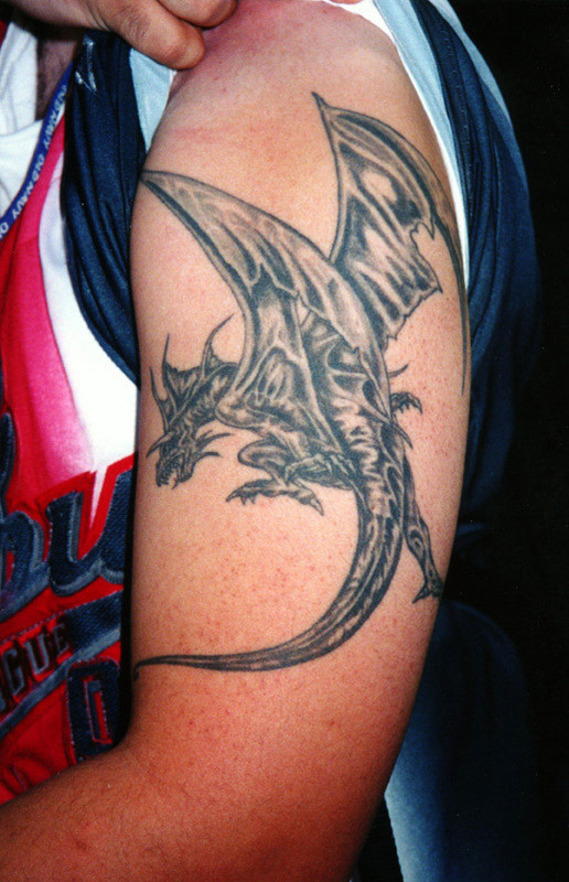 Dragon Shoulder Tattoo Design For Men