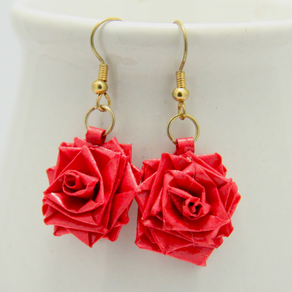 beautiful rose shape handmade studs designs