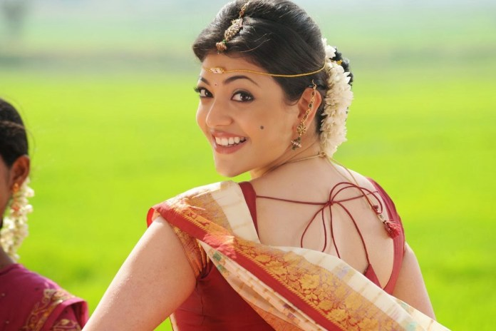 kajal agrawal in sari pictures
