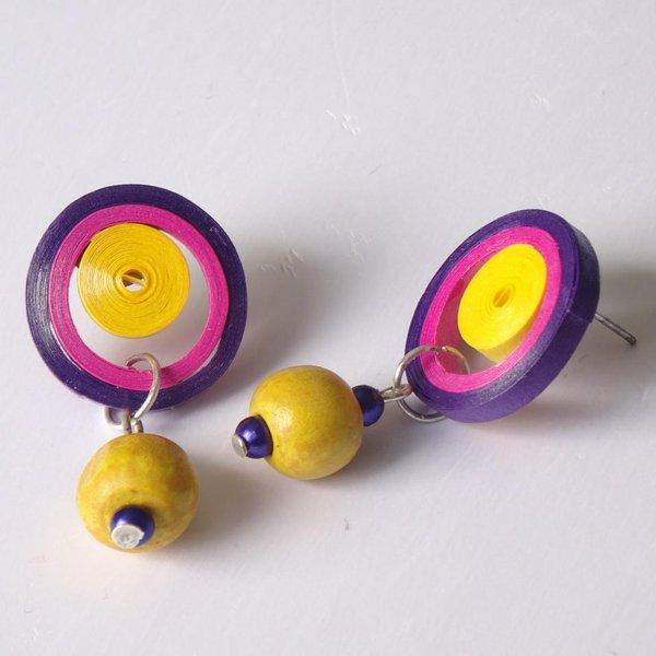 Latest beautiful easy paper quilling jewellery designs images photos easy paper quilling studs designs mightylinksfo